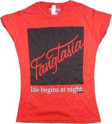 True Blood - Fangtasia - Ladies T-Shirt (Red) - Small Free Shipping!