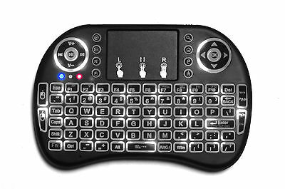 Genuine i8 LED Backlit 2.4G Mini Wireless Touchpad Keyboard 2016 for android tv