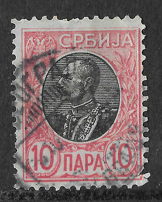 Serbia - 1905 10p King Peter 1st. - see scan