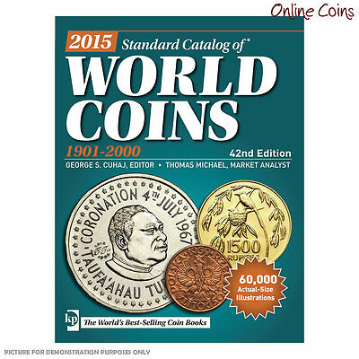 2015 Krause Standard Catalogue of World Coins 42nd Edition 1901 - 2000 NEW ISSUE