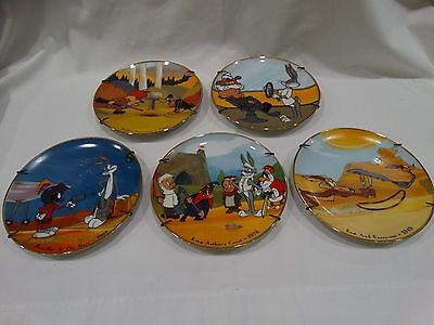 "Vintage Lot Of 5 Looney Tunes 6"" Collectable Plates"