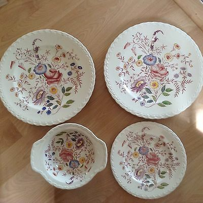Vintage Hand Painted Vernon Kilns Chintz Pattern Dinner Plate Lunch Plate Bowl