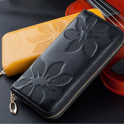 2018 New Fashion Lady Women Leather Purse Wallet Phone Card Zip Handbag Clutch