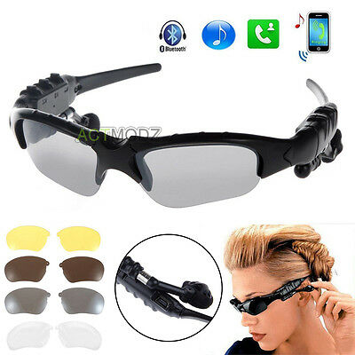 Smart Bluetooth Video Sunglasses Camera Headset Headphone For Cell Phone Tablet