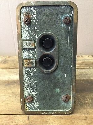 Vintage Elavator Up and Down Button Control Panel