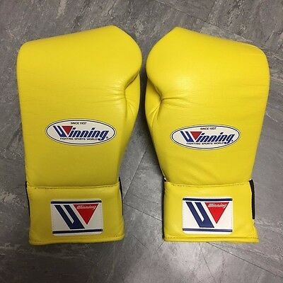 WINNING SB-3000 - Custom Yellow - Professional Bag Gloves - Grants Reyes