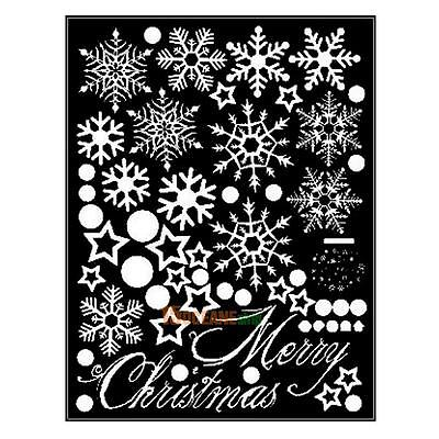 Re-used Christmas Snowflake Window Wall Car Home Decor Sticker Affixed Decals