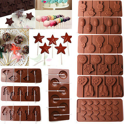 Cute Xmas Lips Lollipop Cake Mold Flexible Silicone Mould For Candy Chocolate