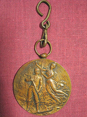 1930 Bronze Firemen'S 25Th Anniversary Medal – – Pompiers Bovevange, Luxembourg