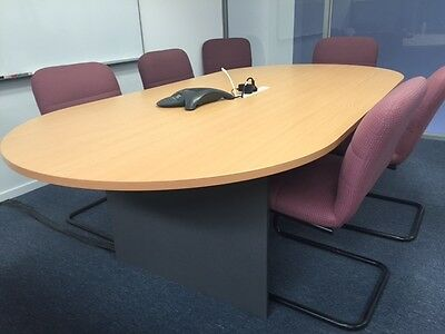 OFFICE FURNITURE CLEARANCE – Boardroom Table with POWER - 1200 x 2400 (as new!)