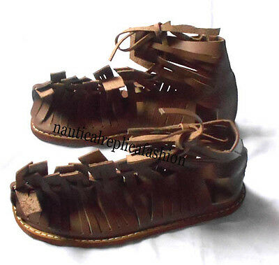 Wearable Collectible Greek Leather Roman Sandal Medieval Gladiator Sandal