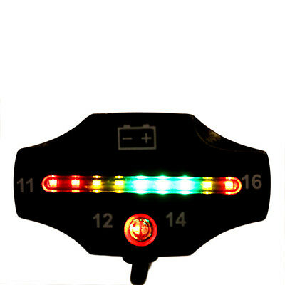 Car Motorcycle LED Battery Voltage Meter Indicator 12V Auto ATV Applications ZV