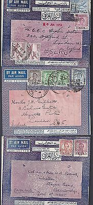Iraq 1929 30 Three Interesting Airletters To Two From The Iraq Petroleum Company