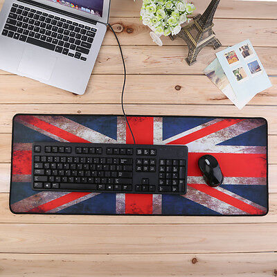 Rubber XL Large Size 800*300 Anti-Slip Laptop PC Mouse Pad Gaming Mat Red ZC