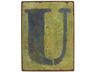 "Rustic Alphabet Wall Sign Letter ""u"" Wall Decor Outdoor Indoor Western Decor"