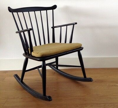 Borge Mogensen J52 Rocking Chair for FDB Mobler,  Mid Century Vintage,   #314