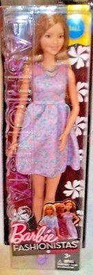 BARBIE FASHIONISTAS 2016 TALL DOLL #53 LOVELY IN LILAC 3+, Mattel