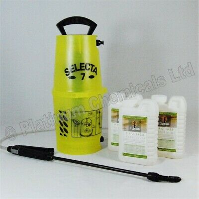 Lignum Pro Insecticide Woodworm Killer Timber Treatment 3L Spray Kit - Makes 75L