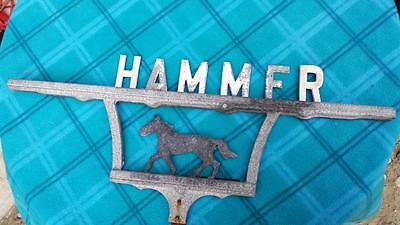 10x22 Antique aluminum horse architectural HAMMER garden driveway lawn home sign