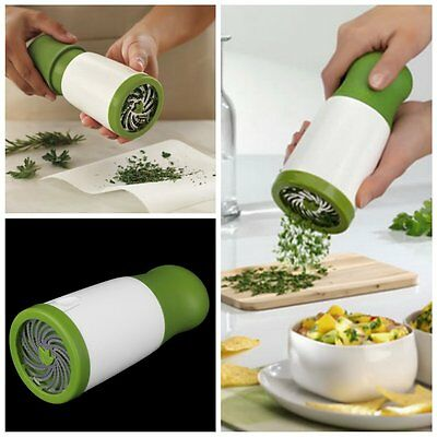 Herb Mill Chopper Cutter Mince Stainless Steel Blades Safely New M2