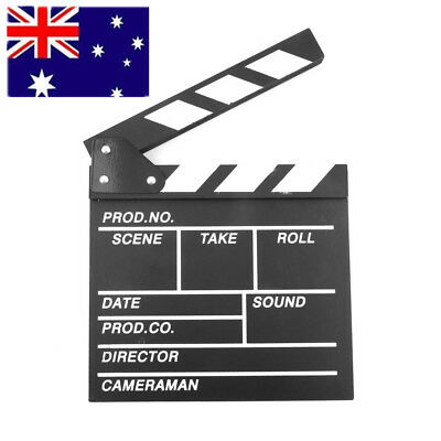Director Video Scene Clapperboard TV Movie Clapper Board Film Slate Cut Prop AU