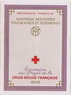 TIMBRES FRANCE Année 1958 Carnet Croix-Rouge N°2007 NEUF ** COTE 38€