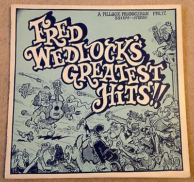 """FRED WEDLOCK'S GREATEST HITS Signed 12"""" Vinyl LP 1977 EX"""