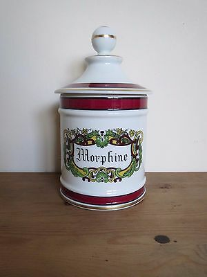 French Limoges Porcelain apothecary pharmacy jar 'morphine'