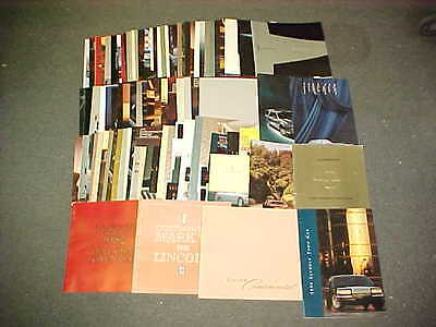 1970's 1980's 1990's 2000's LINCOLN SALES DEALER BROCHURE PROSPEKT LOT OF 100