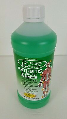 Dr. Fred Summit Arthritis & Sport Epsom Salt Rubbing Alcohol-Muscle Pain Relief