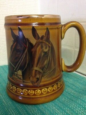 Vintage 1970's Lord Nelson Pottery - Horse Tankard