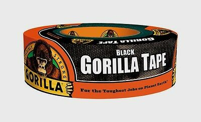 NEW Gorilla Duct Tape 1.88in. W x 35yd. L Black Tough Reinforced Backing 6035060