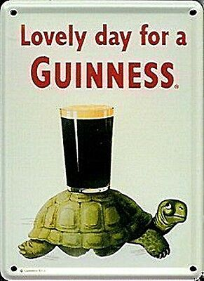 Guinness Tortoise miniature metal sign / postcard   110mm x 80mm  (hi)