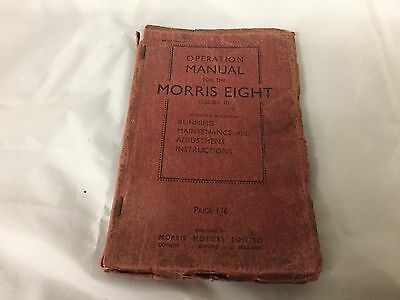 Vintage Classic Car Morris Eight 8 Series 2  1937  Edition Owners Manual
