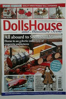 Dolls House and miniature scene magazine Sept 2016 + FREE brick wall cut outs