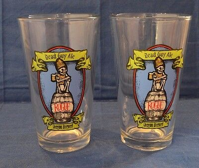 2 Two Dead Guy Ale Rogue Oregon Shaker Pint Beer Glasses Barware