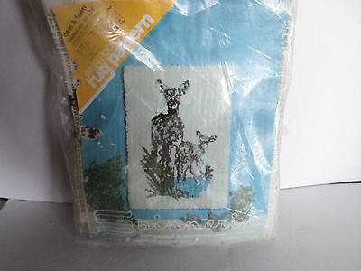 Latch Hook Spinnerin Deer And Fawn Vintage 1970's