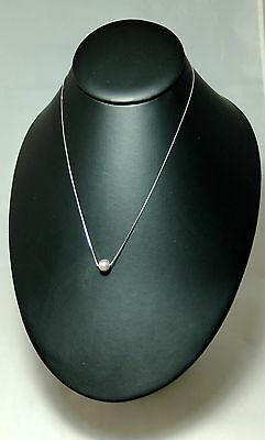 Freshwater White Pearl Pendant with Silver Chain Necklace *925* Sterling Silver