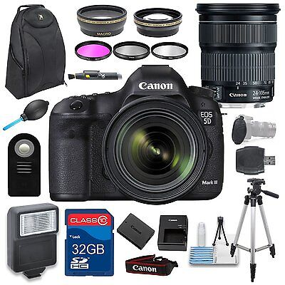 Canon EOS 5D Mark III DSLR Camera + EF 24-105 IS STM Holiday Accessory Bundle