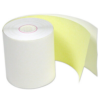 "3"" x 100' POS Carbonless 2 ply Register Receipt Printer Tape 30 Rolls"