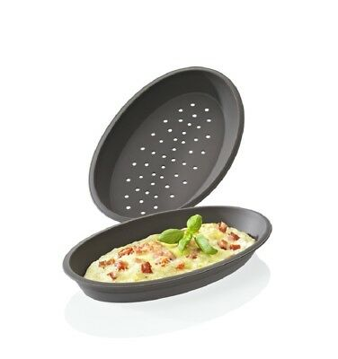 Lurch Flexi®Form Pizzaform / Pizzabackform oval 2er Set Platin-Silikon Neu & OVP