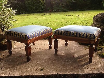 Pair of stools by ecclesiastical furniture maker Camille Lenclos (1903-85)