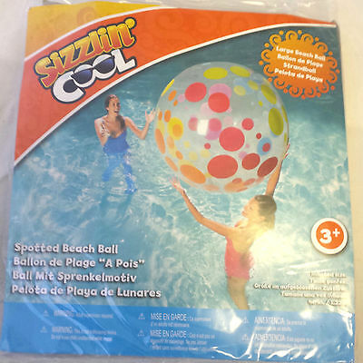 Sizzlin' Cool Spotted Beach Ball Summer Swim Fun Large