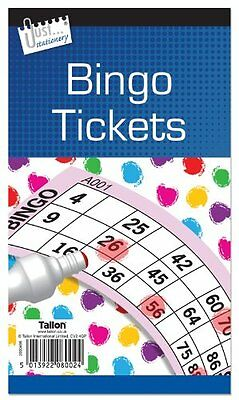 Bingo Game Tickets - 600 Games In Jumbo Size In Packs Of 1 5 Or 10