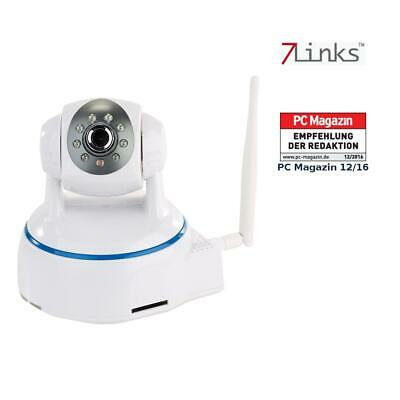 7links Dreh- & schwenkbare Indoor-IP-Kamera, Full HD, WLAN, SD-Aufnahme & App