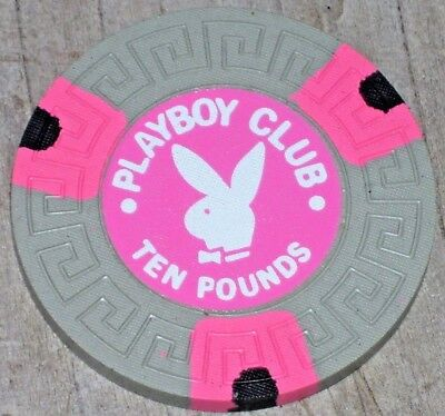 10lb VINTAGE GAMING CHIP FROM THE PLAYBOY CLUB CASINO, LONDON