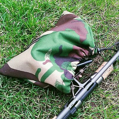 TOTAL CAMO CARP DPM camo carp fishing big pit reel sleeves pouches