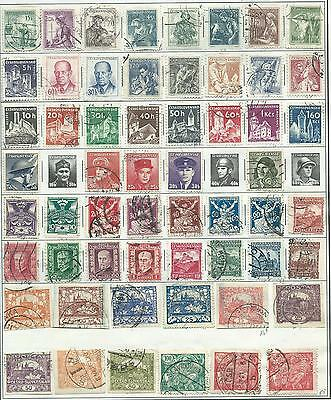 Czechoslovakia - 84 old stamps mixed - Years 1918 to 1967