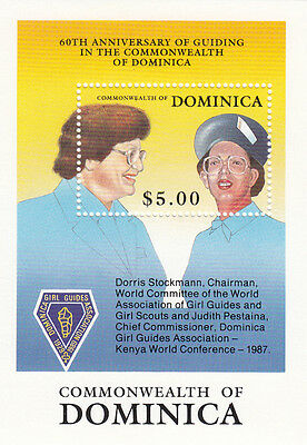 (22902) Dominica Guides Dorris Stockman Minisheet MNH