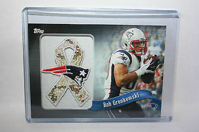 "NFL 2013 Topps ""Rob Gronkowski - New England Patriots"" NFL Patch Ribbon -STS-"
